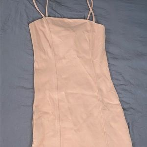 Nude pinkish f21 dress with slit